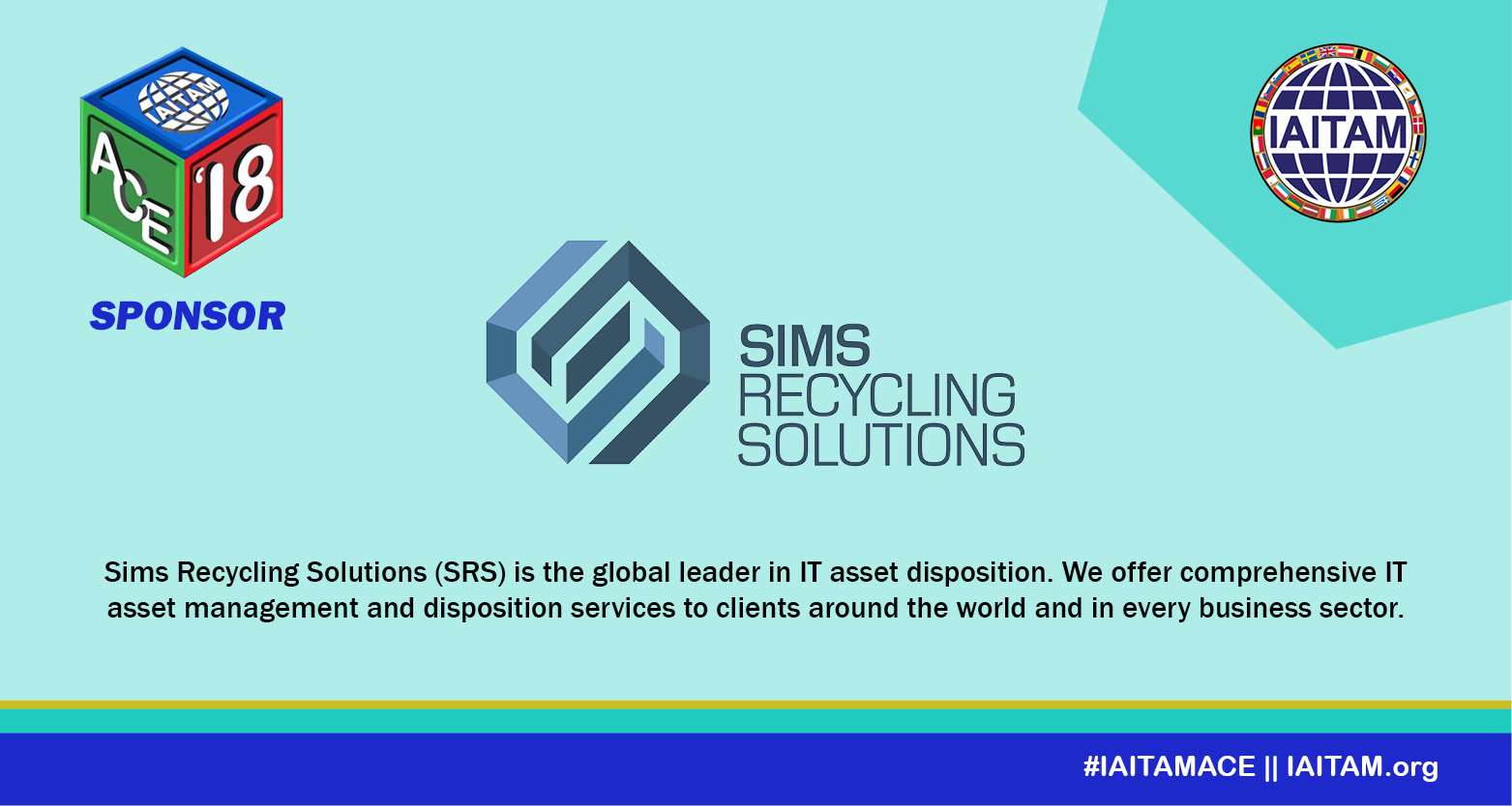 Thank you Sims Recycling Solutions, Sponsor at the IAITAM ACE