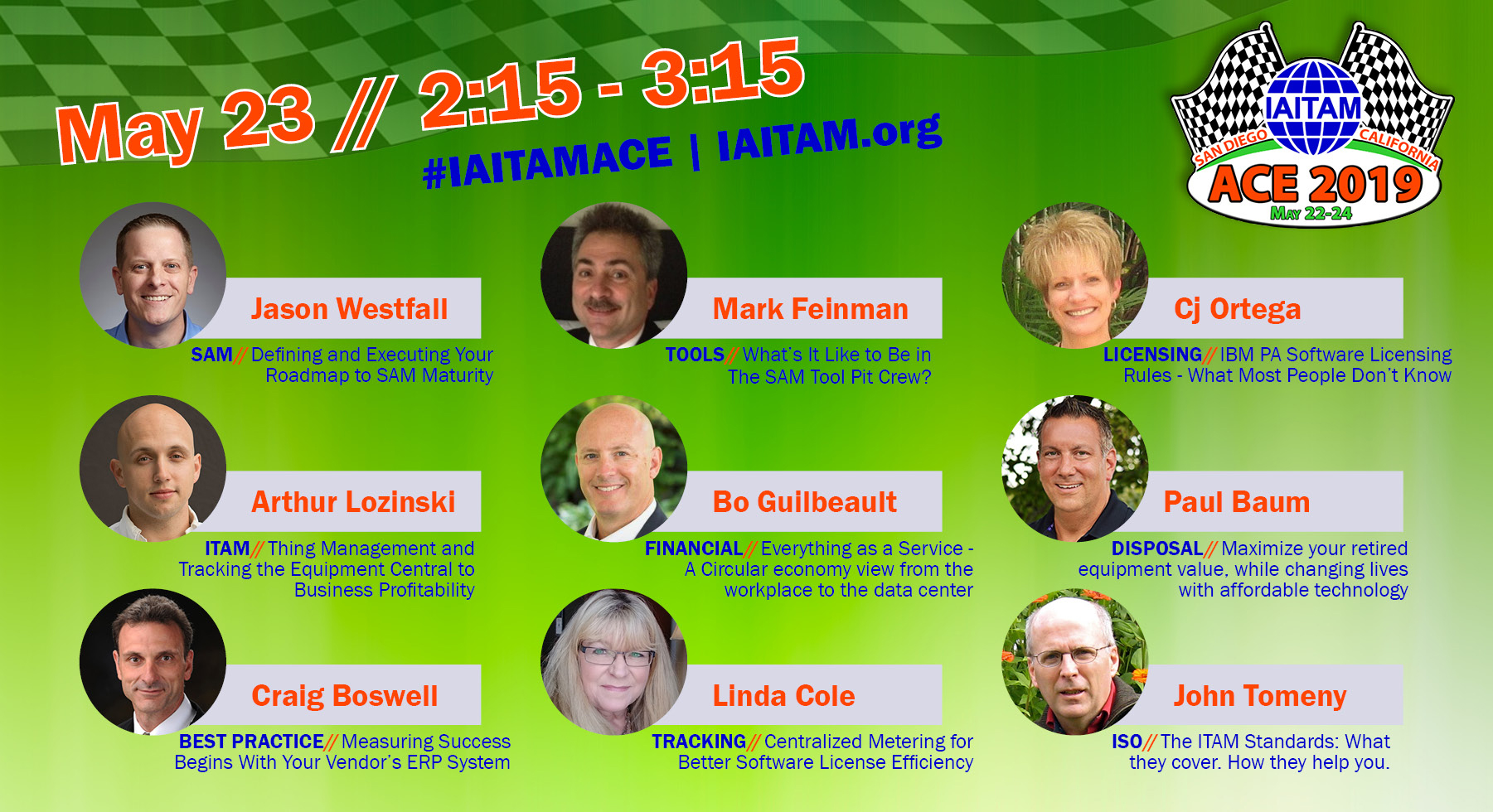 Thank you to our #IAITAMACE Speakers!