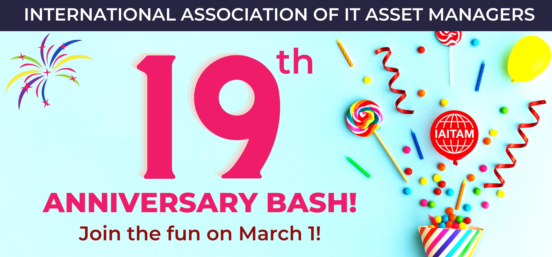 Celebrate 19 years of IAITAM!