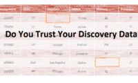 Do You Trust Your Discovery Data?