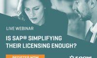May 31st Live Webinar: Is SAP® Simplifying Their Licensing Enough?